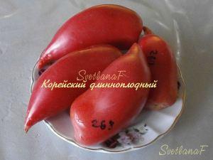 томат Корейский длинноплодный